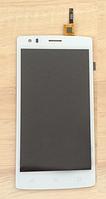 Оригинальный дисплей (модуль) + тачскрин (сенсор) для Fly FS502 Cirrus 1 (белый цвет)