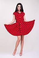 Красное платье в черный горох
