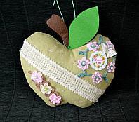 Декор Хенд мейд Яблуко 20 см Подвеска Подушечка декоративная