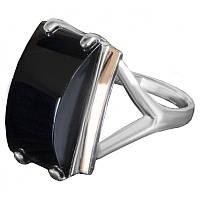 Женское серебряное кольцо с золотыми вставками арт. uk165