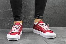 Vans женские кеды бордовые , фото 3