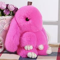 Заяц-брелок розовый
