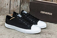 Кеды летние кроссовки мужские Converse All star черно-белые