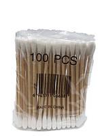 Гигиенические ватные палочки на деревянной основе 100 шт