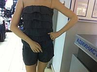 Распродажа Молодежный летний полукомбинезон с льняной ткани р-р M-L