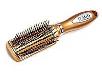 Расческа для волос, массажная, с пластиковыми зубцами, цвета в ассортименте 25_1_62
