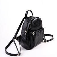 Рюкзак маленький М124-Z женский черный глянец