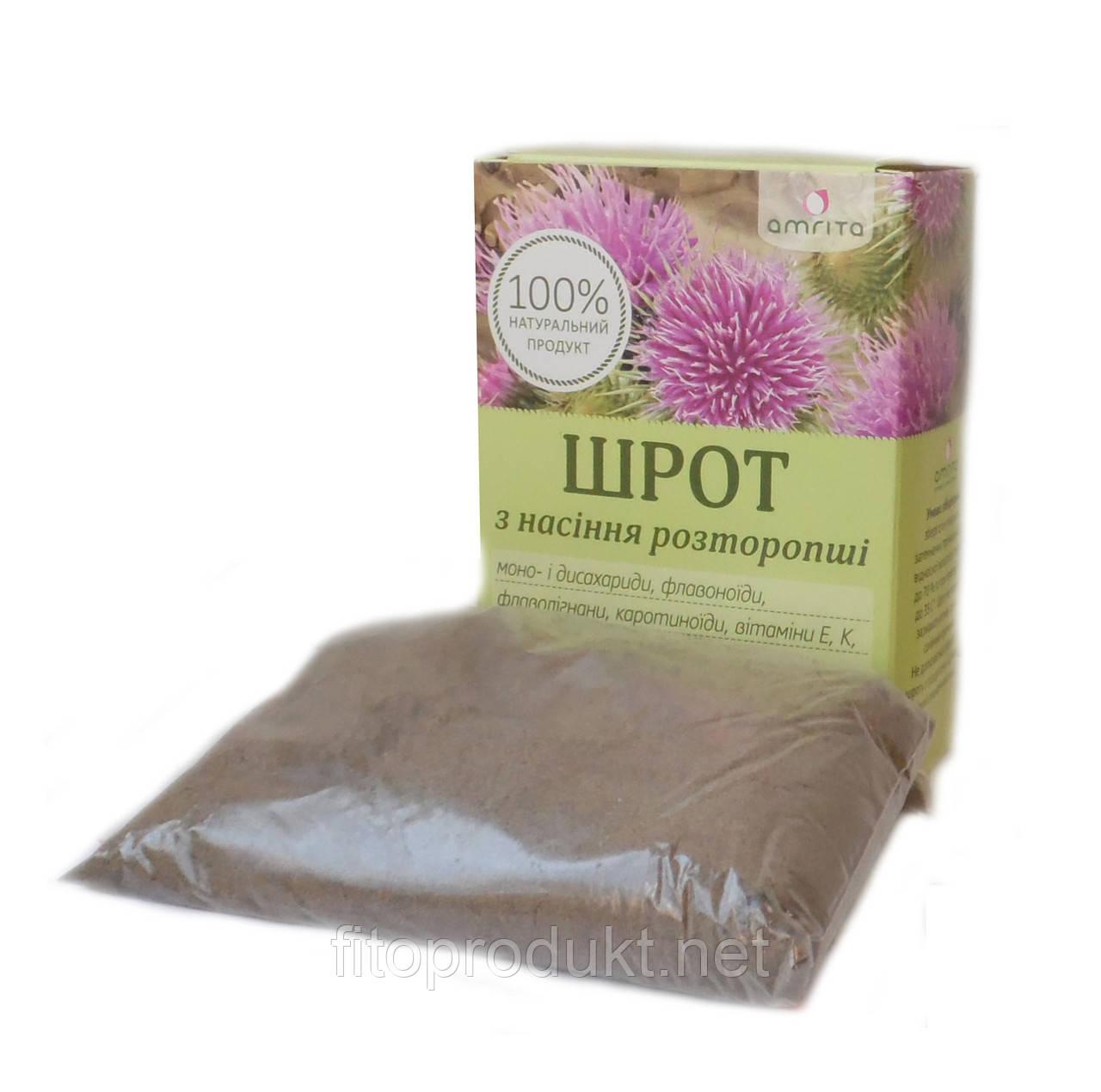 Шрот семян расторопши здоровье печени  200 г Амрита
