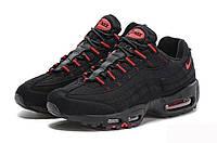 Мужские кроссовки Nike Air Max 95 Black/Red (реплика)