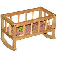 Кроватка для куклы деревянная ВП-002,44х24х28 см