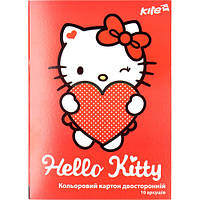 "Картон цветной HK17-255 ""Hello Kitty"", А4, 10 листов (Y)"