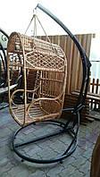 """Кресло подвесное для отдыха """"Кокон"""" из лозы"""