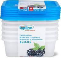 Контейнеры для хранения продуктов питания Topline 6х0,5 л. Швейцария