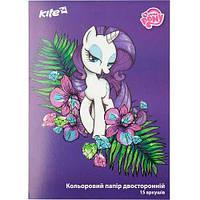 "Бумага цветная Kite LP17-250 ""My Litle Pony"", 15 листов/15 цветов (Y)"