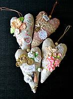 Декор Хенд мейд Сердечко 20 см Подвеска Подушечка декоративная Сердце Тильда