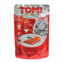 ТОМИ ГОВЯДИНА В МОРКОВНОМ ЖЕЛЕ суперпремиум влажный корм, консервы для кошек, пауч 0,1кг