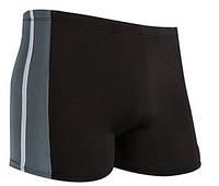 Плавки мужские черные с серым на шнурке XL 52р
