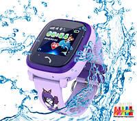Q100 Aqua Детские Умные Часы с GPS водонепроницаемые (DF25) Розовый