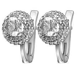 Сережки зі срібла з куб. цирконіями 177363