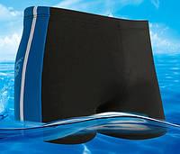 Плавки мужские черные с синим на шнурке XL 52р
