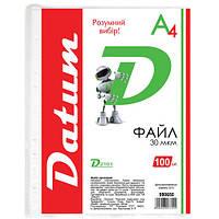 """Файл 990650 """"Datum"""", A4, 100 шт. в упаковке (Y)"""