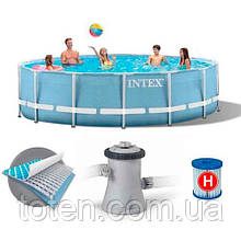 Каркасний басейн Intex 28702 (аналог 28202) з фільтром, 305х76 см