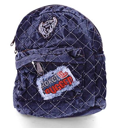 Джинсовый женский рюкзак, фото 2