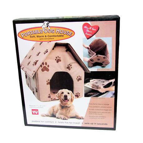 Домик для собаки и кошки Portable Dog House складной портативный, фото 2