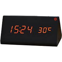 Супер цена Электронные настольные часы под дерево 1301 (подсветка: красный)