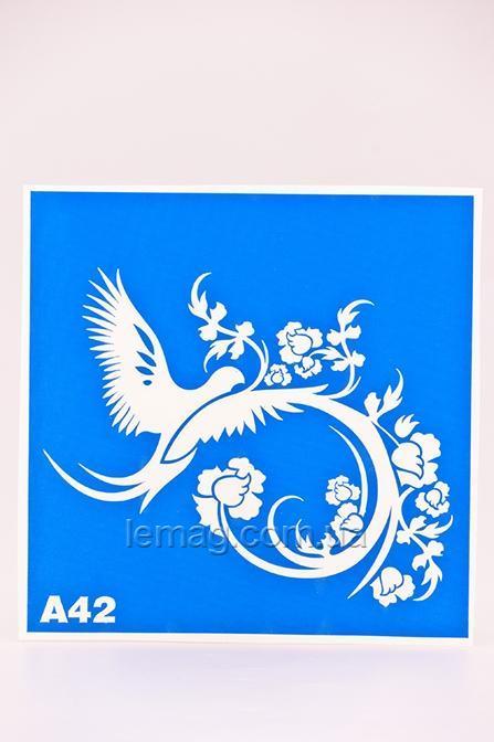Boni Kasel Трафарет для био тату 15х15 см - А42, 1 шт