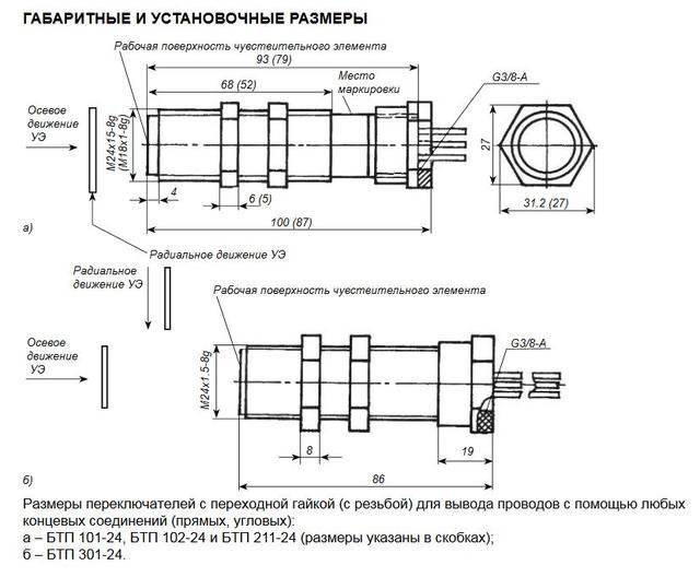 БТП-211 датчик индуктивный