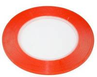 Скотч двухсторонний 3 мм  красный  (1 м)