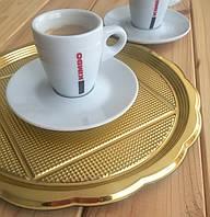 Поднос МЕДОРО пластик, круглый золото 26 см