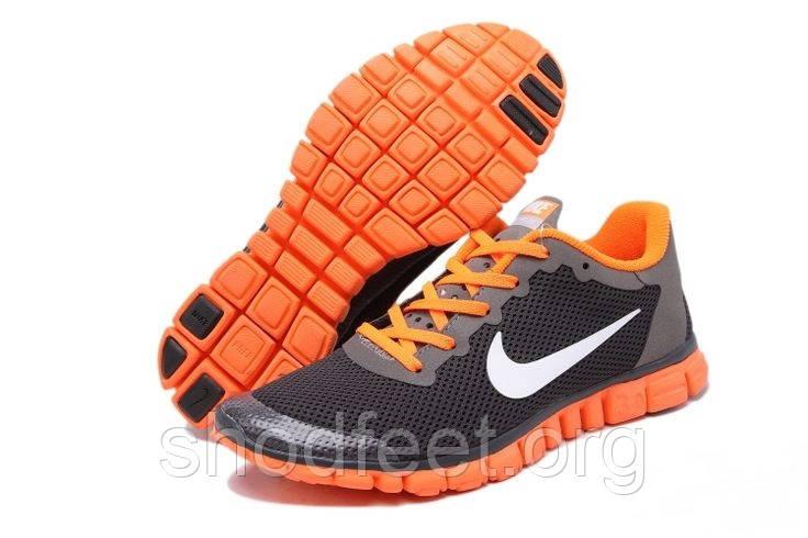 Кроссовки мужские Nike Free 3.0 V2 Orange Grey