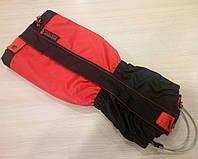 Альпинистские бахилы Tracker profesional красного цвета.