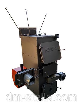Двухконтурный пеллетный пиролизный котел с автоудалением золы 60 кВт, фото 2