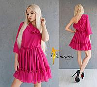 Платье Эксклюзивная Ткань выбиты орнаменты на шёлк шифоне  Подклад шифон  С и М  !(21033)