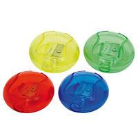 """Точилка цветная """"Круглая"""" с контейнером, длина лезвия 2.3см new"""