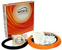 Тонкий двужильный нагревательный кабель Woks (под ламинат, в плиточный клей) 10 Вт/м