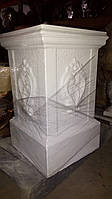 Колонна подставка из бетона №6 65 см, фото 1