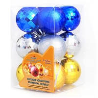Ёлочные шарики GN039, 12 шт. (Y)