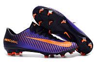 Футбольные бутсы Nike Mercurial Vapor XI FG Purple Dynasty/Bright Citrus/Hyper Grape, фото 1