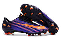 Футбольные бутсы Nike Mercurial Vapor XI FG Purple Dynasty/Bright Citrus/Hyper Grape, фото 1