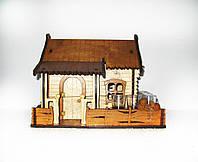 Мини-бар с рюмками деревянный Домик, фото 1