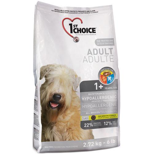 Сухой корм 1st Choice гипоаллергенный для собак, с уткой и картофелем  12КГ