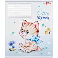 """Тетрадь цветная 12 листов, линия """"Милые котята"""""""