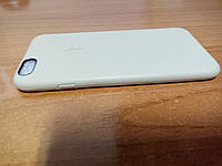 Чехол-накладка iPhone 6 6S силиконовая с имитацией кожи, с логотипом, бежевая