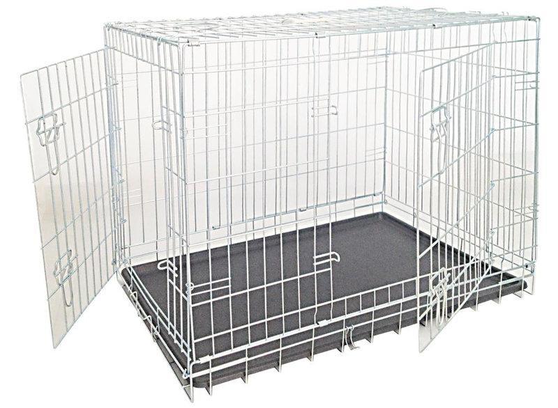 Croci Клітка для собак складна, 2 входи, цинк 109*71*79 см (C2D00056)