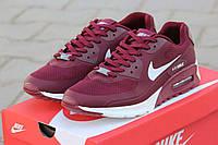 Кроссовки мужские Nike Air Max Hyperfuse 90 бордовые