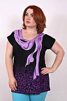 Женская летняя футболка-туника с ярким принтом ЛЕО 510 ТМ Ирмана 54-60 размеры